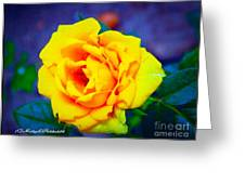 Nana's Yellow Rose Greeting Card