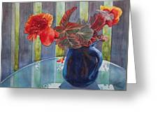 Nancy's Begonias Greeting Card