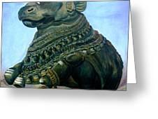 Nandi Greeting Card by Murali