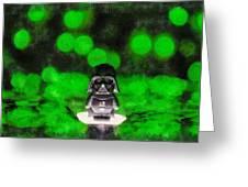 Nano Darth Vader - Pa Greeting Card