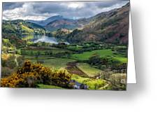 Nant Gwynant Valley Greeting Card