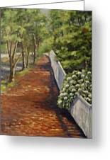 Nantucket Fence Number Three Greeting Card