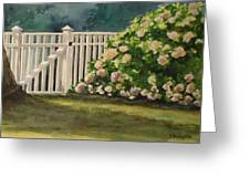 Nantucket Fence Number Two Greeting Card
