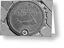 Nantucket Water Meter Cover Greeting Card