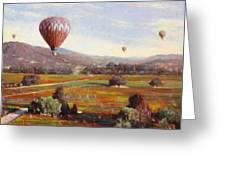 Napa Balloon Autumn Ride Greeting Card