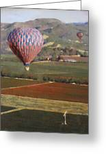 Napa Balloon Morning Ride Greeting Card