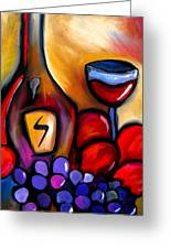 Napa Mix - Abstract Wine Art By Fidostudio Greeting Card