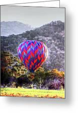 Napa Valley Morning Balloon Greeting Card