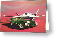 Napa Valley Lotus And Bonanza Beechcraft Greeting Card