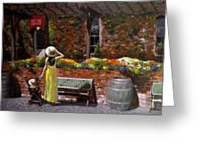 Napa Wine Cellar In Spring Greeting Card