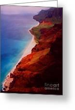 Napali Coast Greeting Card