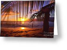 Napili Bay Sunset Maui Hawaii Greeting Card