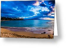 Napili Bay Sunset Panorama Greeting Card