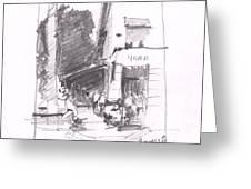 Naples 5th Ave Corner Greeting Card