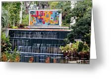 Naples Botanical Waterfall - Refreshing Garden Greeting Card