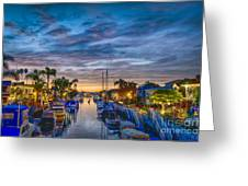 Naples Canal Christmas 6 Greeting Card