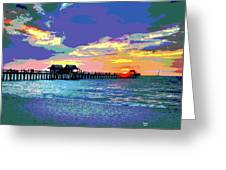 Naples Pier Florida Greeting Card