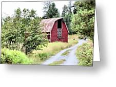 Naples Red Barn  Greeting Card