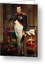 Napoleon Bonaparte In His Study At The Tuileries, 1812 Greeting Card
