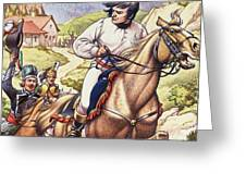 Napoleon Making A Narrow Escape With An Austrian Cavalry Patrol Close On His Heels Greeting Card