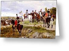 Napoleon Watching The Battle Of Friedland Greeting Card