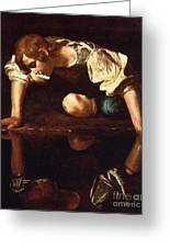 Narcissus Greeting Card by Pg Reproductions