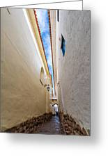 Narrow Alley In Cusco Greeting Card