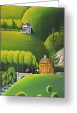 Narrow Foothills Greeting Card