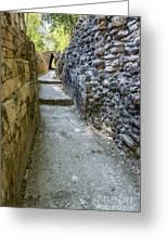 Narrow Mayan Road Greeting Card