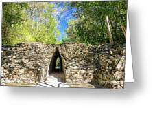 Narrow Passage In Becan, Mexico Greeting Card