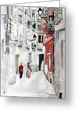 Narrow Street Greeting Card