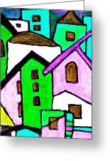 Narrow Village Greeting Card