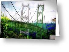 Narrows Bridge Abstract Greeting Card