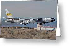 Nasa Boeing Nb-52b Stratofortress With Hyper X Greeting Card by Brian Lockett