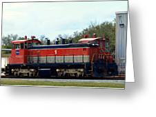 Nasa Space Shuttle Railroad Greeting Card