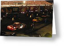 Nascar  - Juan Pablo Montoya Returns To Garages After Coke Zero 400 Greeting Card