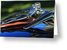 Nash Ambassador Hood Ornament  Greeting Card