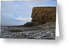Nash Point In Wales Greeting Card