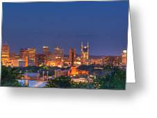 Nashville By Night Greeting Card