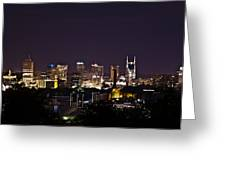 Nashville Cityscape 4 Greeting Card