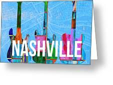 Nashville Guitars Greeting Card