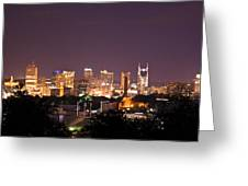 Nashville Night Scene Greeting Card