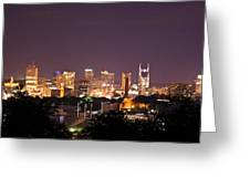 Nashville Night Scene Greeting Card