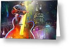 Nashville Nights 01 Greeting Card