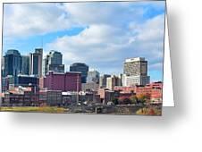 Nashville Panorama View Greeting Card