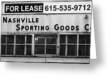 Nashville Sporting Goods Greeting Card