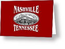 Nashville Tennessee Design Greeting Card