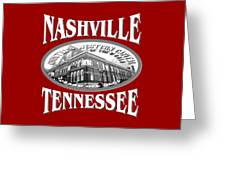 Nashville Tennessee Design Greeting Card