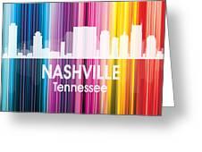 Nashville Tn 2 Squared Greeting Card