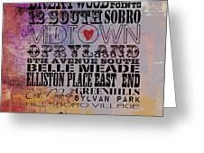 Nashville Tn V1 Greeting Card